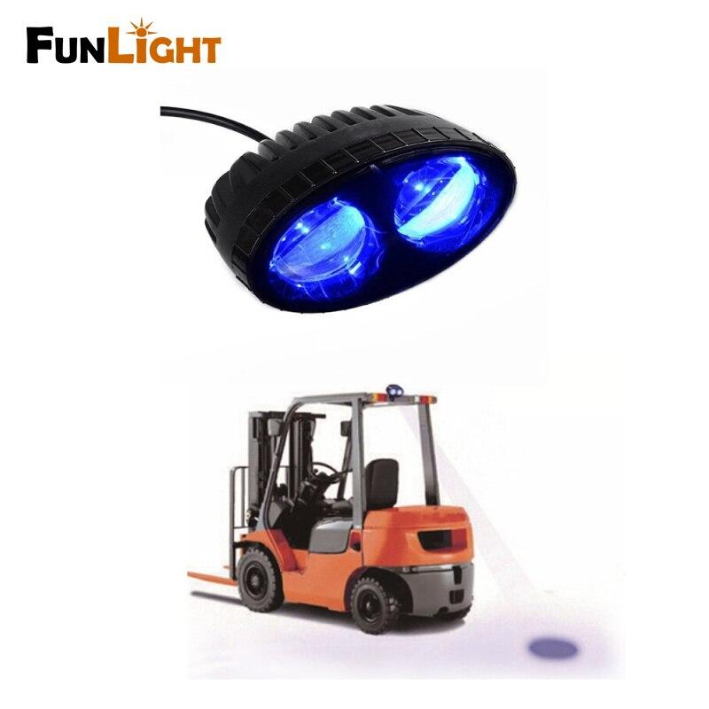 10pcs Safety Blue point led work light 10w 10-80V LED forklift warning lights, bule light forklift <br><br>Aliexpress