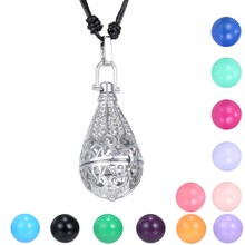 Hollow Out Water Drop Musical Openable Ball Angel Mexican Bola Openable Locket Pendant Long Necklace Sounds Bell Pregnancy Women