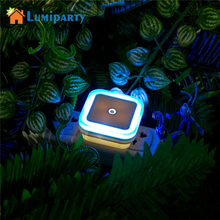 LumiParty Mini LED Night Light Square Smart Control Senso safe for children and help make children's fall into sleep(China)