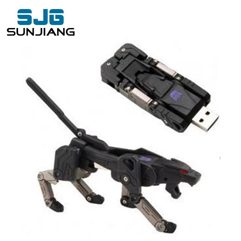New Hot sale Transformers robot USB Flash Drive 32gb 4gb 8gb 16gb 64gb pen drive pendrive memory stick cool gift real capacity(China)