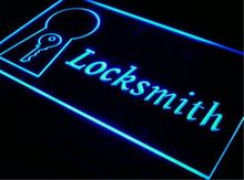 ke01 Locksmith Key Repair Door Lock LED Neon Light Sign Wholeselling Dropshipper home decor crafts