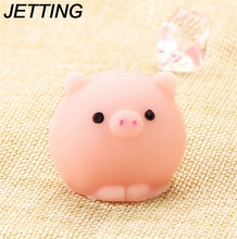 JETTING Pig Ball Squishy Slow Rising Kawaii Mini Mochi Bunny Phone Strap Squeeze Stretchy Cute Pendant Bread Cake Kids Toy Gift