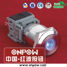 ONPOW 19mm stainless steel 1NO1NC momentary dot illuminated pushbutton switch LAS1-BGQ-11D/B/12V/S