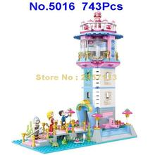 5016 743pcs Mermaid Lighthouse Beacon Girl Friends Princess Building Block Brick Toy(China)