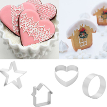 1Pcs/set DIY Cake cutting Aluminium Alloy Gingerbread Men Shaped Holiday Biscuit Mold Kitchen cake Decorating Tools(China)