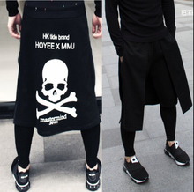 2016 Dj personalized men's clothing culottes boot cut jeans tidal current costumes skirt novelty harem pants casual pants 27-36