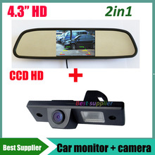 "HD CCD car rear view parking camera for Chevrolet Epica Lova Aveo Captiva Cruze car backup camera + 4.3"" car mirror monitor"