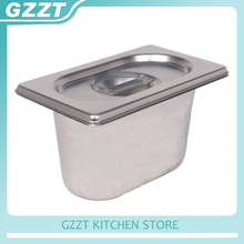 6pcs/carton American Style 1/9 Gastronorm Pans Stainless Steel Buffet Plate Tureens Pot Catering Commercial(China)