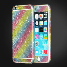 For iphone 6 6s Plus 5 5S SE 5C Bling 360 Degree Full Body Decal Skin Bling Glitter Phone Protective Sticker Wrap Phone Case
