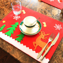 2pcs/lot Christmas tree Western Restaurant Coasters Knife and fork set restaurant dinning table mats christmas decorations(China)