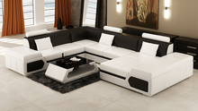 Sectional seater modern couch genuine leather sofa set(China)