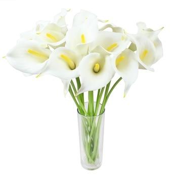 12pcs Real Touch Decorative Artificial Flower Calla Lily Artificial Flowers for Wedding Decoration Event Party Supplies Hot Sale