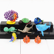 Finding Dory Finding Nemo Clownfish Dory Collection PVC Figure Dolls Toy Kids Gifts 8pcs/lot