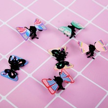6pcs/Set Fashion Women Crab Hair Claw Mini Butterfly Hair Pin Soft Potty Hair Clip For Girls Hair Accessories Randomly Color(China)