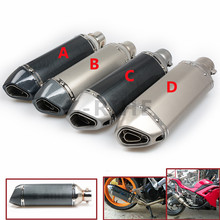 for 51 Akrapovic EXHAUST Scooter Modified Muffler exhaust carbon universal Small Hexagonal Vent Pipe For BMW K1600 K 1200 1300 S(China)