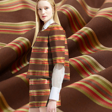 150CM Wide 400G/M Weight Fashion Stripe Brocade Cotton Polyester Fabric for Spring and Autumn Dress Shirt E383(China)