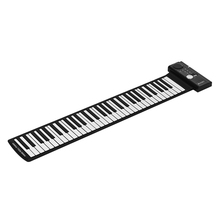 61 Keys Portable Silicon Electronic Keyboard Hand Roll Up Piano Built-in Speaker Supports MIDI & Sustain Pedal Function(China)