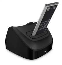 For Samsung Galaxy Note 4 N910 Usb Dock Dual Cradle Desktop Charger Station with Battery Charging Port