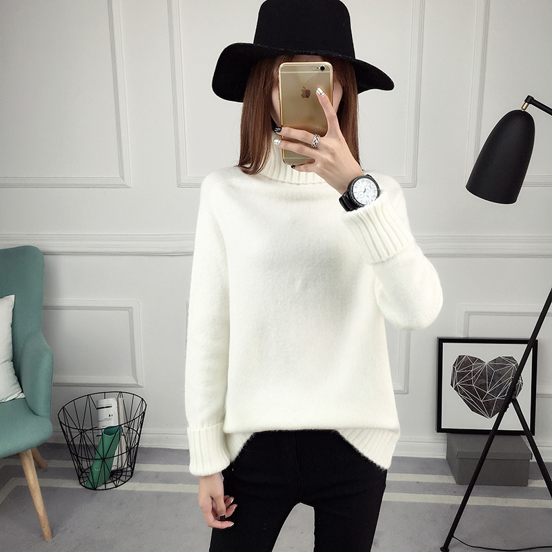 Winter Turtleneck Sweater, Women's 2017 New Design Thick Pullover 35