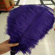 Hot! 10pcs pretty purple ostrich feather high quality 14-16inches / 35-40cm For Weeding Party Decoration(China)