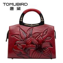 2017 New women bag genuine leather brands quality cowhide fashion luxury ethnic style artistic perfection women handbags bag(China)