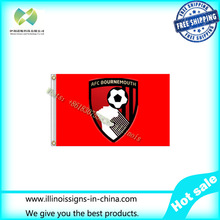 Free shipping 3x5FT England Premier League Bournemouth EPL flag 100D Digital Printing football soccer banner