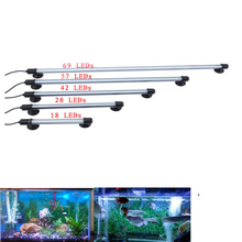 18/30/42/57/69 LED Aquarium Fish Submersible Light Air Bubble Lamp Remote(Hong Kong)