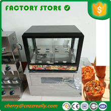 110V 220V Free shipping pizza cone making machine pizza cone display showcase for sale