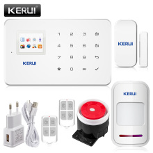 KERUI G18 TFT Touch GSM Alarm Wireless IOS/Android APP Control Home Burglar Security Protection Alarm System(China)