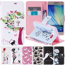 EKONE Leather Case For Samsung Galaxy A3 A5 2015 Case Wallet Flip Girl Cover Samsung Galaxy A5 Love Tree Cats Horse Phone Case