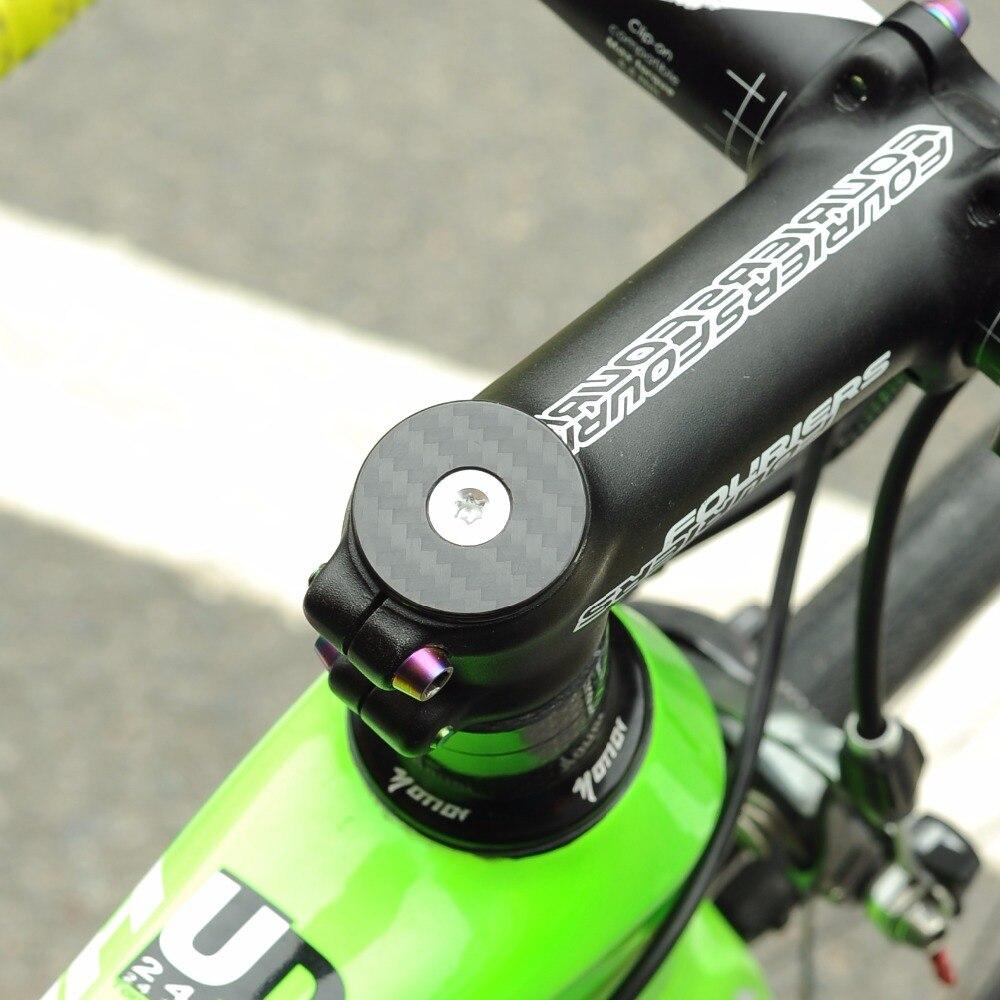 Road Bike Top Tube Cap Bicycle Headset Cover Screws Stem Spacers Aluminum Alloy