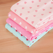 Charm Cotton Fabric Half meter Heart Sewing Patchwork Tilda Kids Baby Bedding Handmade Cloth Tissu Crafts Materials Scrapbooking
