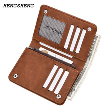 New arrival Designer Brand Men Wallet Short Nubuck Leather Wallet Slim Pocket Wallet Pusre Portable Card Holder Casual Purse(China)