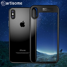 ARTISOME Full Cover Protector Case For iPhone X Fashion Ultra Slim TPU & PC Transparent Hard Back Cover For iPhone x Phone Case