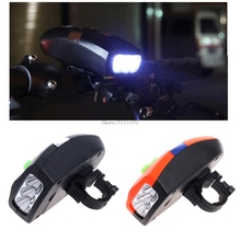 Buy Universal 3 LED Bike Light Bicicleta Bicycle Light White Front Head Light Cycling Lamp + Electronic Bell Horn Hooter Siren JUN08 for $2.46 in AliExpress store