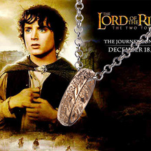 "Lord of Rings ""The One Ring"" Bilbo's Hobbit Ring Tungsten w/chain LOTR cosplay jewelry(China)"