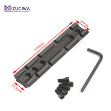 Picatinny 20mm Dovetail to Weaver Scope Rail Mount Base Adapter 100mm Scope Mount Converter For Rifle Flashlight Laser Sight