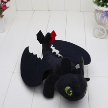 Hot Movie 23cm How To Train Your Dragon 2 Night Fury Toothless Dragon Stuffed Animal Plush Doll Baby Toy