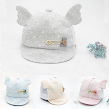 Clearance Baseball Cap Cute Bear Beanies Caps Infant Summer Visors Sun Hat with Wing Baby Photography Accessories Touca Infantil(China)