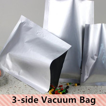Free Shipping 30PCS/LOT 200micron Large Aluminum Foil 3 Sides Vacuum Packaging Bag Freezer/Fruit/Cooked Food Bag(China)