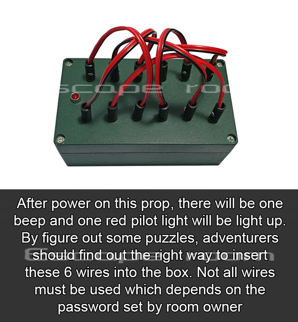 Security Alarm Fashion Style Escape Room Prop Push The Joystick Input A Sequence Of Movements To Trigger The Lock Room Escape Game Direction Puzzle Prop