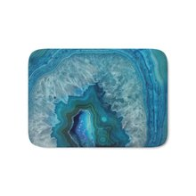 Blue Faux Druse Crystal Quartz Gem Gemstone Geode Mineral Stone Science Specimen Photograph Hipster Bath Mat(China)