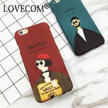 New Classic Old Movie The Killer Leon & Mathilda Hard Scrub Thin Anti Shock Mobile Phone Cases For iPhone7 7 Plus 6 6S Plus
