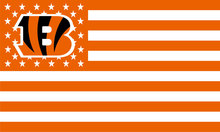 Cincinnati Bengals Flag Black Yellow White the Star-Spangled Banner 100D Polyester Flag Metal Grommets 90*150 CM 3FTx5FT(China)