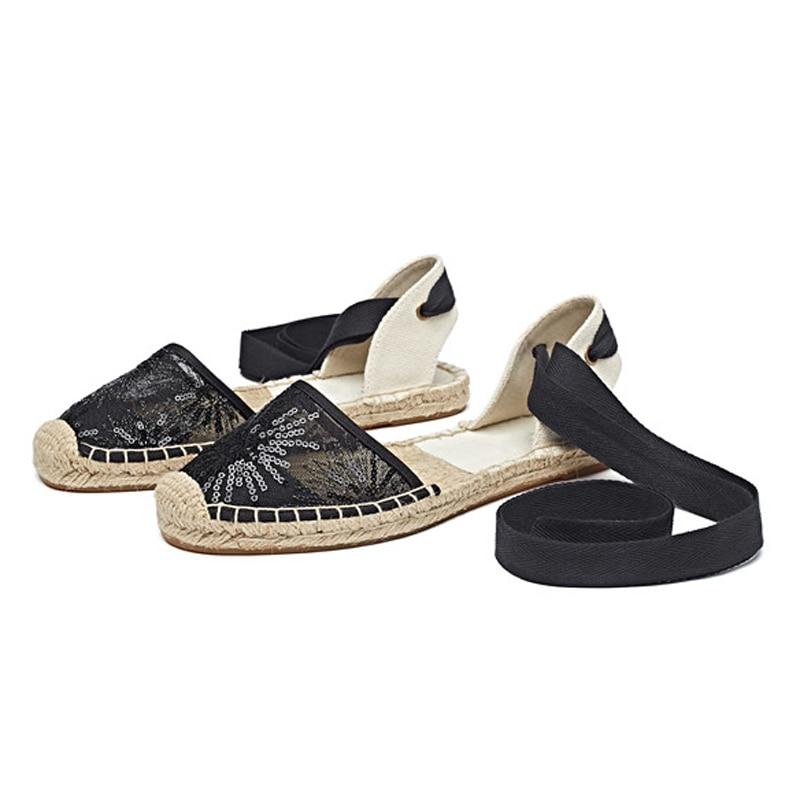 Canvas Summer Women's Espadrille Sandals Flats Ankle Strap Hemp Bottom Fisherman Women Shoes For 2018 SpringAutumn Women Loafer (12)