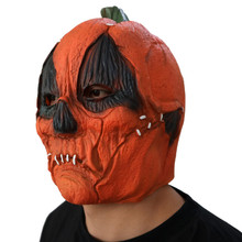 Dropshipping Amazing Deluxe Novelty Halloween Scary Costume Party Props Latex Pumpkin Head halloween Mask lowest price #JD love(China)