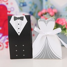 Hot sale 100pcs wedding favor candy box Bride Groom Wedding invitation gifts, party decoration supply.decoracion boda sweet box