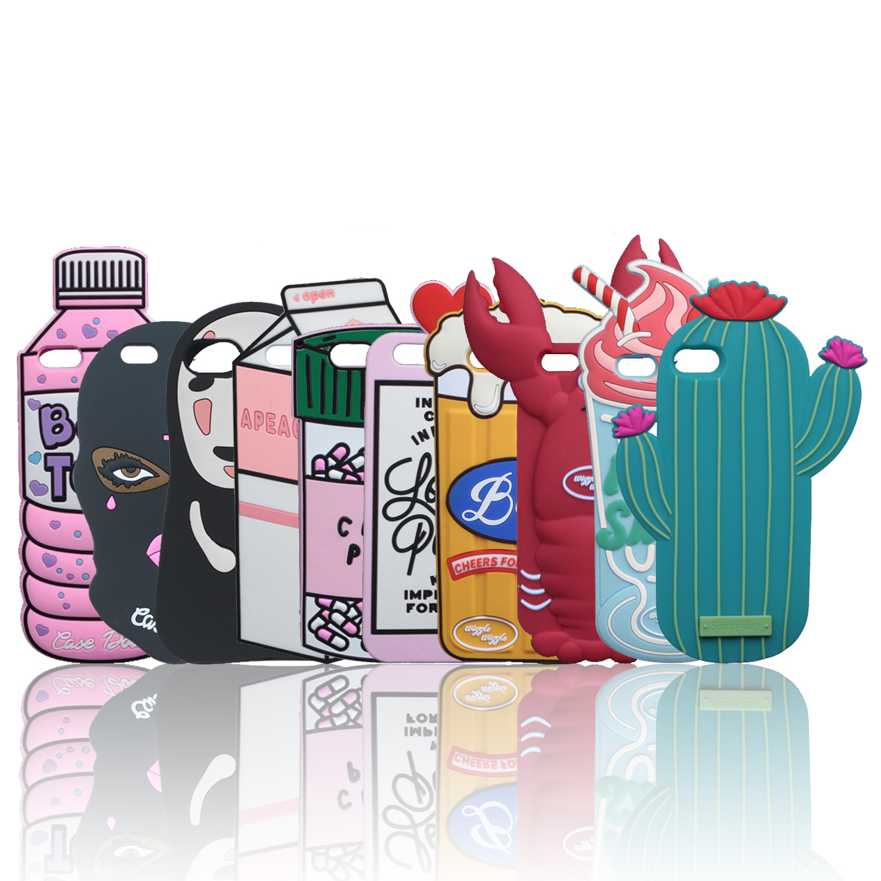 The Case for iPhone 5 5S SE Cases Soft Silicone Back Cover Case Dolls Chill Pills Poison Spray Boys Tears Kakao Beer Hello Kitty(China)