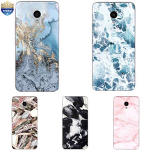 For Meizu M2 M3 M3S Mini Phone Case For Meilan M5 / M5S Mini Shell U10 U20 Cover TPU Coque Marble Lines Design Painted