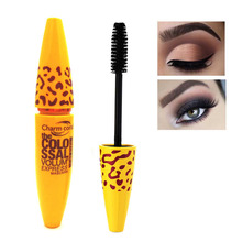 1pcs Fashion Yellow Leopard Colossal Mascara Volume Express Makeup Curling Waterproof Eyelashes Drop Shipping Wholesale(China)